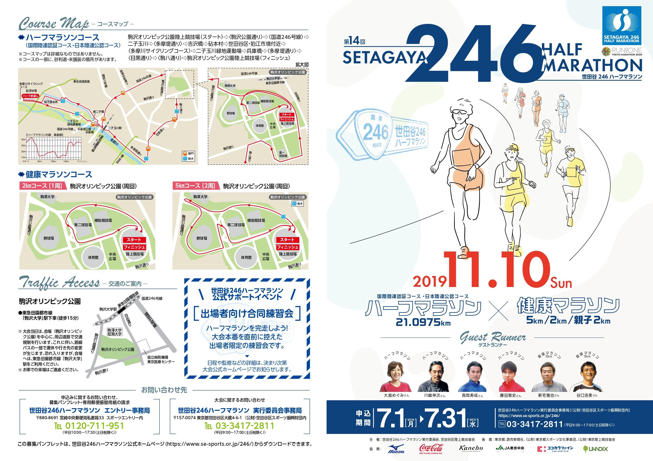 明日は世田谷246ハーフマラソン